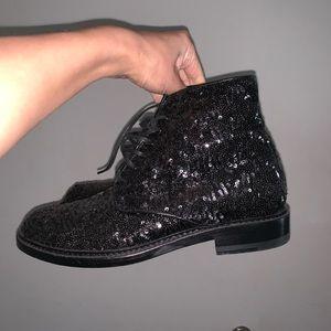 saint Lauren women boots black